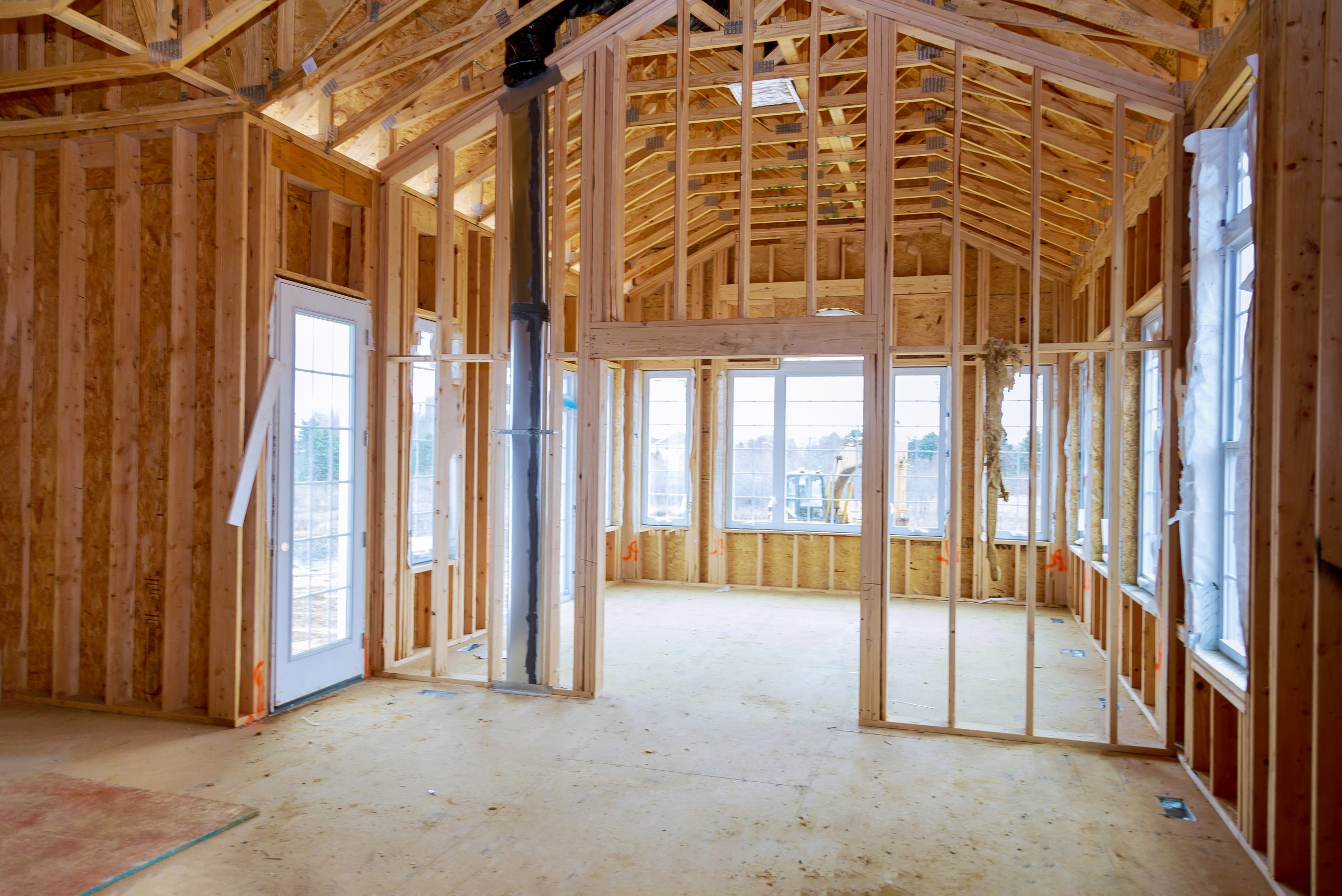 Interior,View,Of,A,House,Under,Construction,Home,Framing