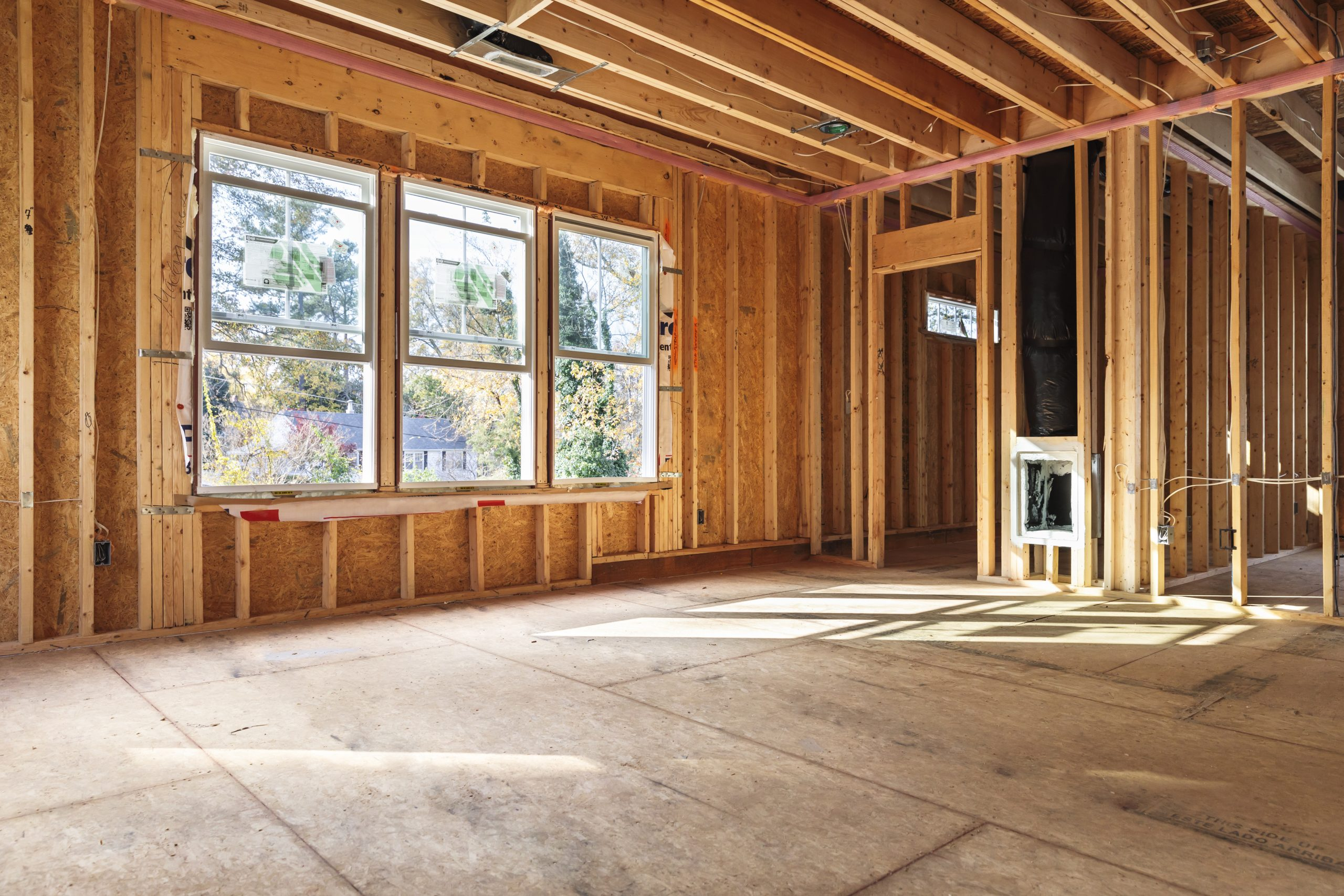 Interior,Frame,Of,A,New,House,Under,Construction,In,North